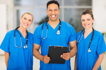 group of young people: group of medical experts in hospital Stock Photo