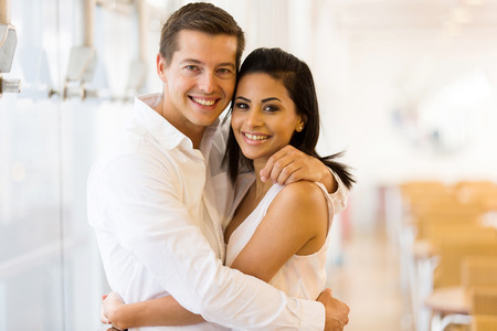 lovely women: portrait of loving young couple embracing