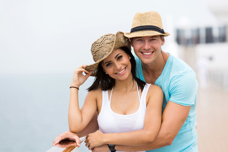 lovely women: adorable couple enjoying a cruise vacation