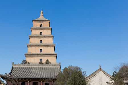 Giant Wild Goose Pagoda is a Buddhist pagoda located in southern Xi'an, Shaanxi province, China