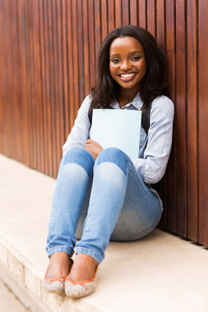 tertiary: beautiful african college girl portrait on campus