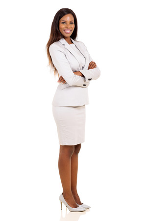 arms crossed: portrait of african business woman with arms folded Stock Photo