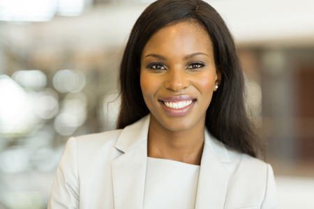 attractive female: portrait of cute african businesswoman