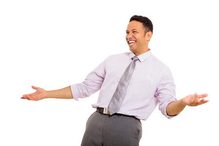 mid age: good looking mid age businessman laughing Stock Photo
