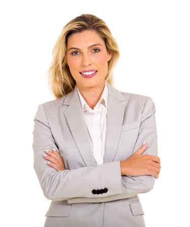 arms folded: attractive business woman with arms folded