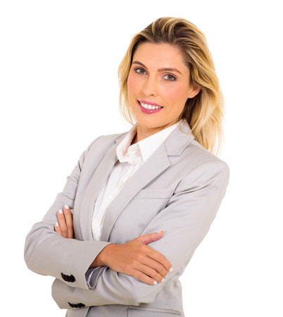 arms crossed: portrait of successful businesswoman with arms folded