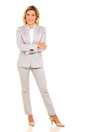 young businesswoman isolated on white background Banco de Imagens