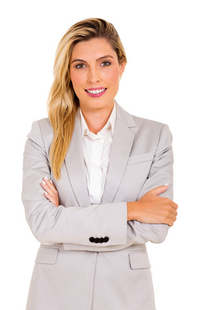 executive woman: portrait of happy young business executive Stock Photo