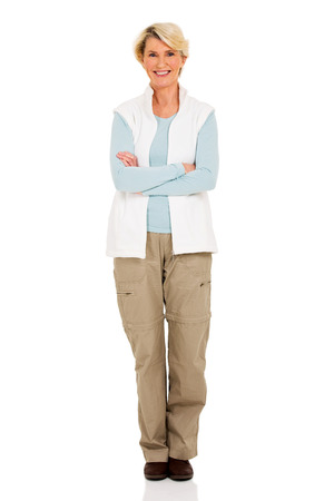 woman middle age: happy middle aged woman portrait with arms crossed
