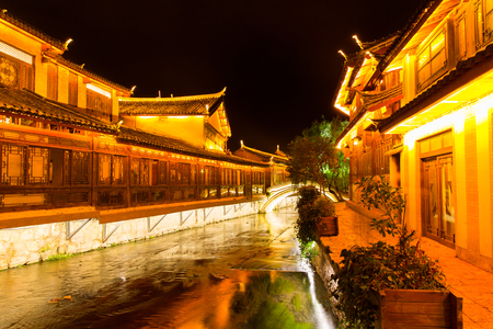 old town: Lijiang old town in evening, China
