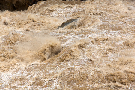gorge: rough yangtze river water in China
