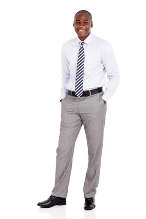 bonhomme blanc: beau jeune homme afro-am�ricain isol� sur fond blanc Banque d'images
