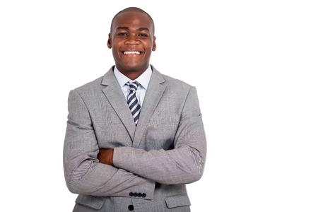 closeup portrait: portrait of businessman with arms folded Stock Photo