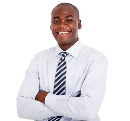african business man: close up portrait of young african business man Stock Photo