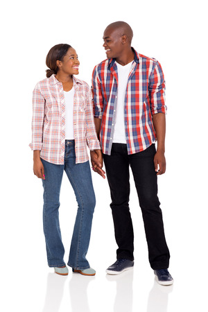 black hands: romantic young african american couple holding hands