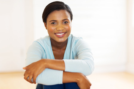african american woman: gorgeous african american woman in new home