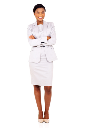 arms folded: portrait of beautiful african business woman with arms folded