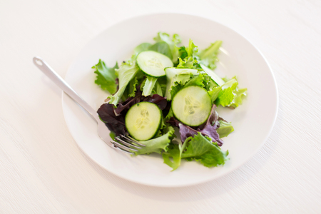 overhead view: overhead view of vegetable salad