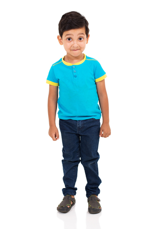 cute indian boy looking at the camera Stock Photo