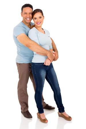 full length portrait: full length portrait of  couple isolated on white background Stock Photo