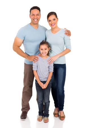 happy family isolated on white background photo