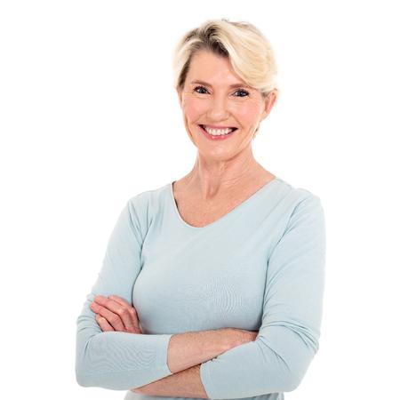 Nahaufnahme Porträt der glücklichen älteren Frau Standard-Bild - 53029713