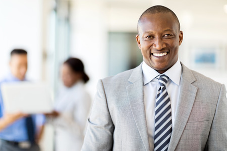 african business: good looking african american business executive Stock Photo