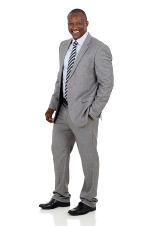 african business man: successful african american business man on white background Stock Photo