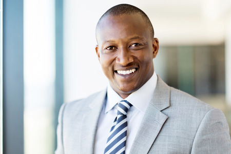 african business: handsome male african american corporate worker