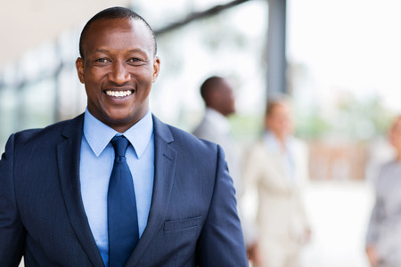african business man: smart african american business man in modern office