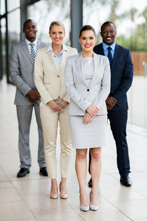 group of successful business people in modern office Stockfoto