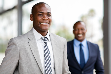 close up portrait of african american business executive Stockfoto