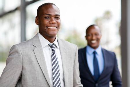close up portrait of african american business executive Standard-Bild