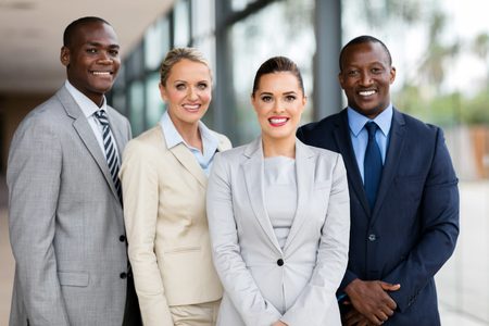 happy professional business team looking at the camera Stockfoto
