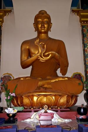 Shambhala Mountain Center Colorado, USA - Feb 19, 2011 - Buddha inside Stupa