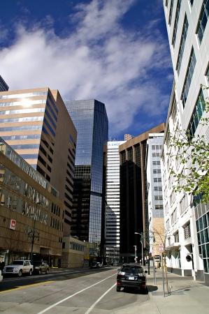 Denver, Colorado, USA - April 17, 2011 - Downtown Denver Street Scene Editorial