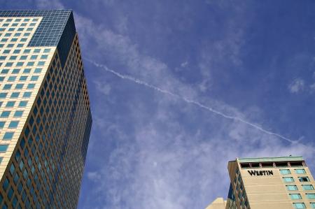 Denver, Colorado, USA - April 17, 2011 - Downtown Denver High Rise Buildings Editorial