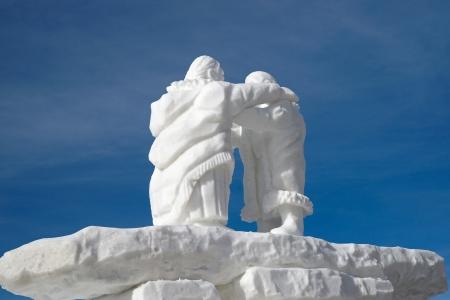 Breckenridge, Colorado, USA - Jan 29, 2012 - Snow Sculpture