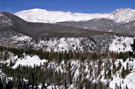 Many Parks Curve at Rocky Mountain National Park Stock Photo