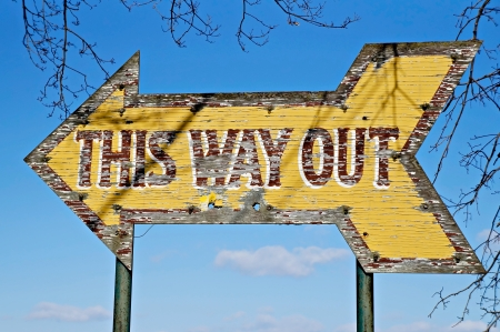way out: This Way Out Sign