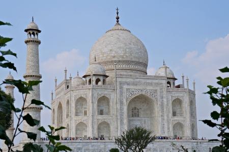 Taj Mahal Southwest View Stock Photo