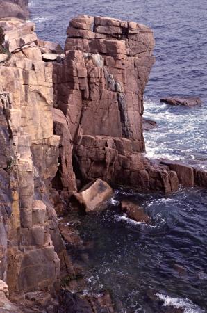 Acadia National Park Rocky Shoreline Stock Photo