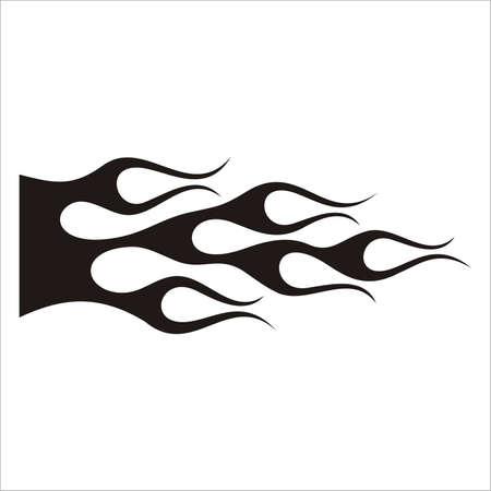 llamas de fuego: Tatuaje de coches  Vectores