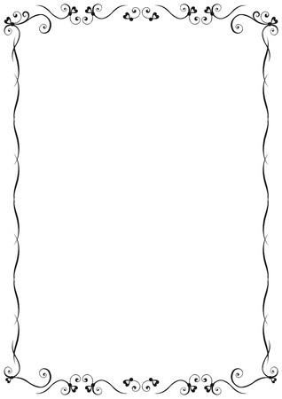 design vector: Floral Frame