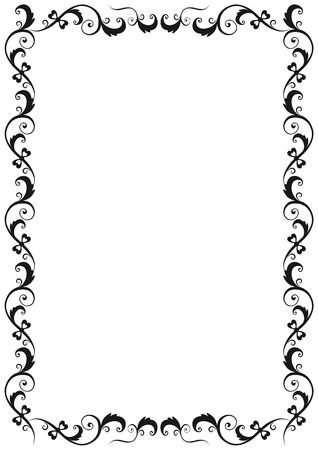 borde de flores: Frame Floral