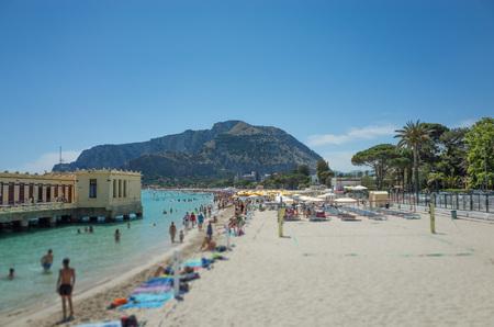 mondello: Mondello beach near Palermo, Italy