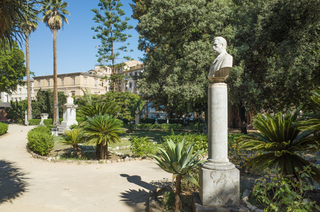 palermo   italy: Park Giardino Garibaldi Villa, Palermo, Italy