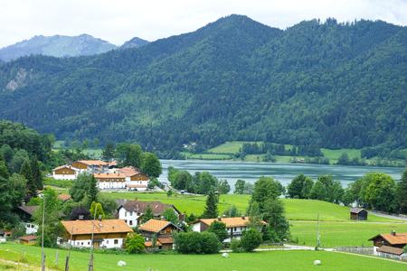 Bavarian village near Schliersee, panorama