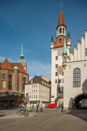 rathaus: Altes Rathaus in Munich Stock Photo