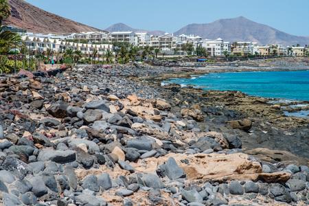Shore of Playa Blanca, Lanzarote Stock Photo